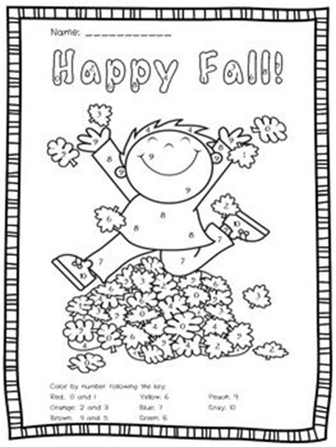 fall coloring pages color by number fun fall color by number