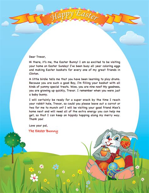 letter to easter bunny template easter bunny letter crna cover letter