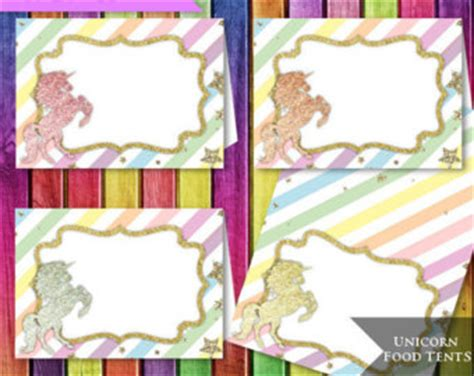 printable unicorn meat label unicorn place cards unicorn birthday unicorn party rainbow