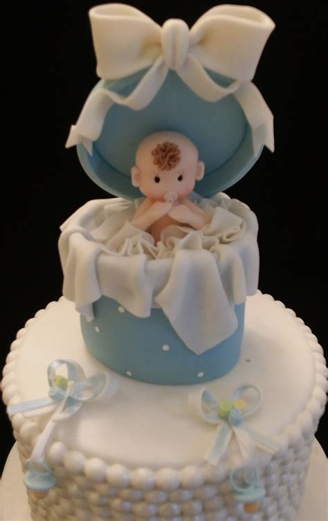 Baby Shower Cake Topper by Baby Shower Cake Toppers Baby In Box Cake Topper