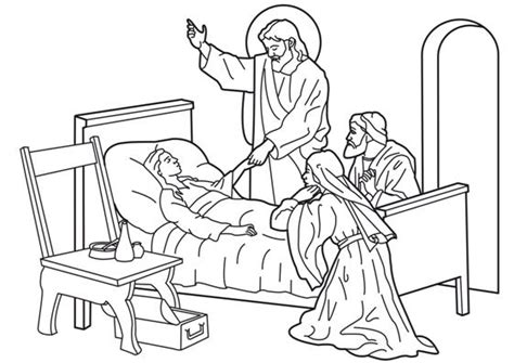 sunday school coloring pages jesus heals the sick jesus heals the sick girl sontreasure island vbs