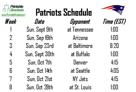 printable schedule for new england patriots search results for 2015 2016 nfl schedule printable