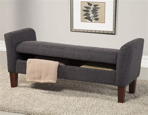 grey fabric bench grey fabric storage bench steal a sofa furniture outlet