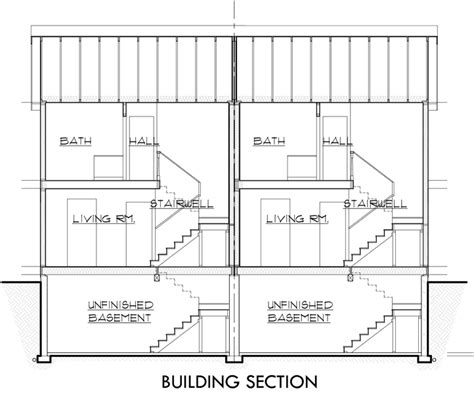 duplex plans with garages on outside studio design
