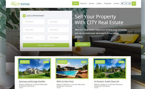 Multi Page Free Real Estate Marketplace Website Template With Working Contact Appointment Form Marketplace Website Template
