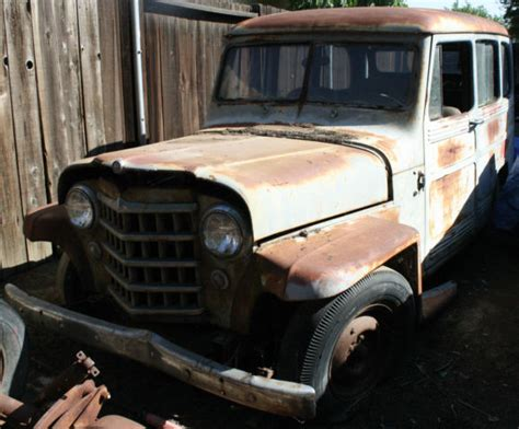 beach cruiser jeep 1951 willy s jeep wagon 2 wheel drive rat rod or beach