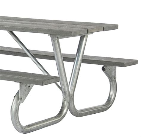 picnic table frame kit frame kit for 6 ft or 8 ft picnic table bolted 2 3 8 quot galvanized steel portable by park tables