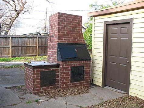 backyard barbecue pit it is easy to make a brick bbq pit your own pit