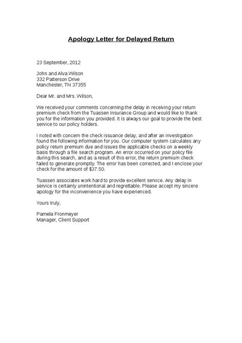 Business Apology Letter Delay Shipment sle apology letter for delay shipment letter