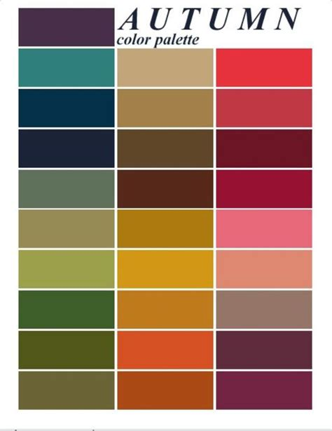 warm autumn color palette best 25 autumn color palette ideas on pinterest colour