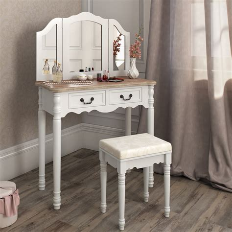 Vanity Table And Stool by Dressing Table Stool Makeup Table Storage Mirror Bedroom