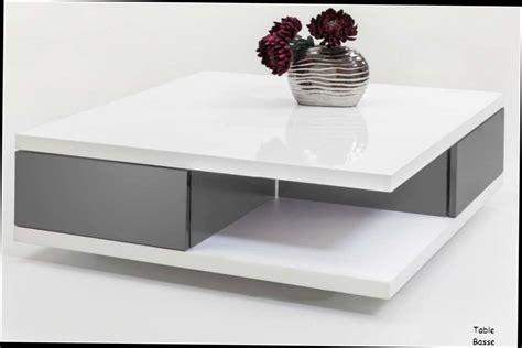 lesele led table basse blanc laque avec led ezooq
