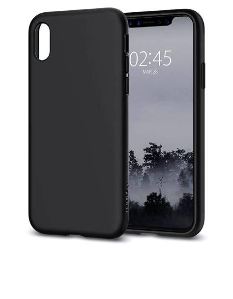spigen liquid matte black for iphone x cases protectors mobile phones