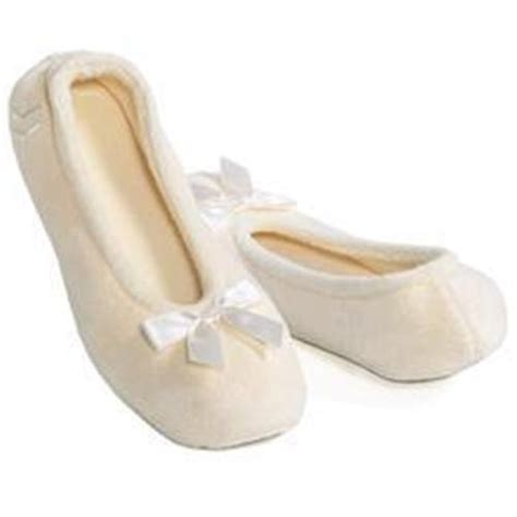 isotoner bedroom slippers ladies terry isotoner ballet slippers xxl 11 12 navy ivory
