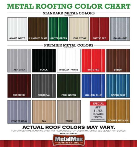 steel siding colors metal roofing siding color chart images