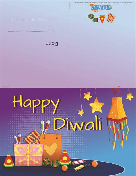 printable diwali gift cards diwali firecrackers 2 diwali greeting card for kids mocomi