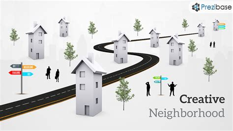 creative neighborhood prezi template prezibase