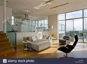 Open Floor Plan Kitchen And Living Room split level open plan living room and kitchen stock photo