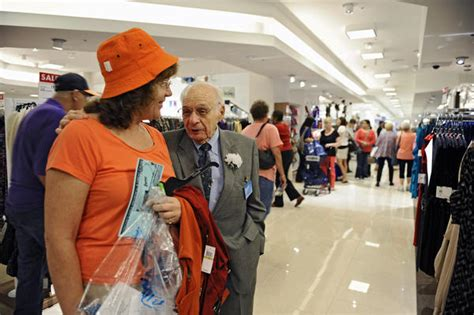 shoppers flock to re opened boscov s at white marsh mall