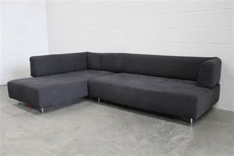 canvas sectional sofa edra quot l homme et la femme quot sectional sofa in black canvas