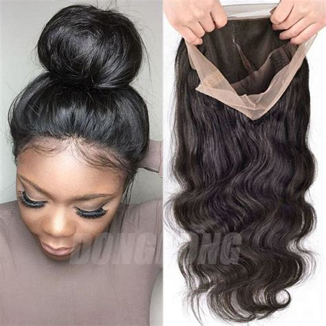 Wig Baby peruvian human hair wig silk top base lace lace front