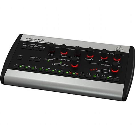Behringer 16 Channel Digital Mixer behringer p16m powerplay 16 channel digital personal mixer