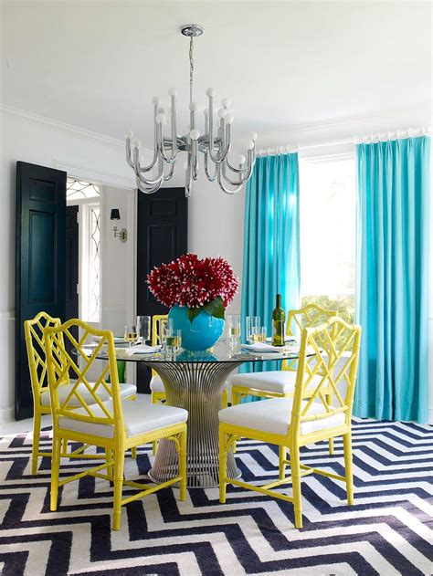 Chevron Room by Serve It Bright 15 Ways To Add Color To Your Dining Space