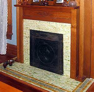 style fireplace tiles for hearth and facade