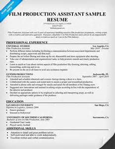 Assistant Production Manager Cover Letter by Production Resume Template Resume Builder