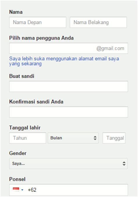 cara membuat akun gmail baru di hp daftar cara buat akun google buat email baru di gmail
