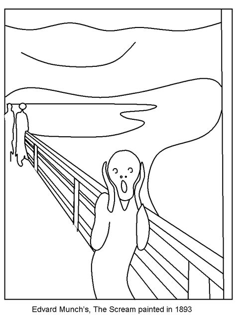 norway scream countries coloring pages coloring book