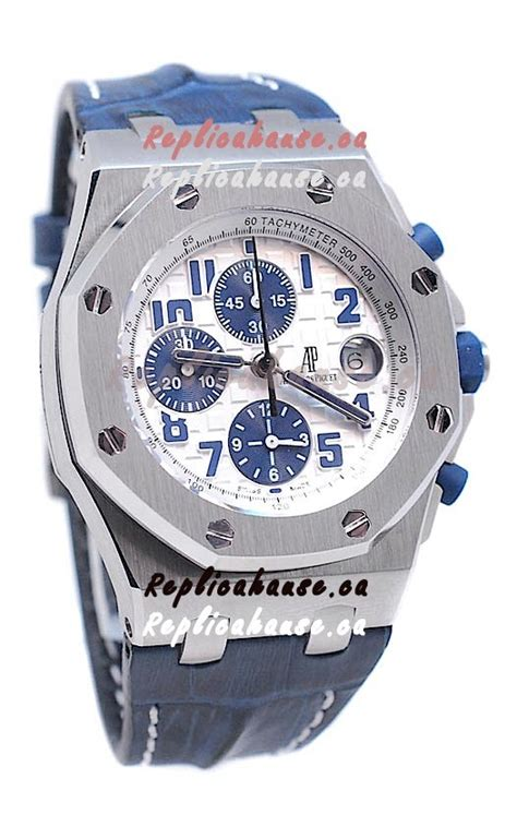 Ap Royal Oak Offshore Swiss Eta Best Edition Navy On Blue Leather audemars piguet royal oak offshore navy edition swiss in white shipping from canada