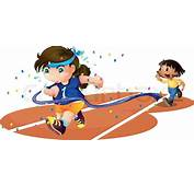 Girls On A Race Track  Stock Vector Colourbox