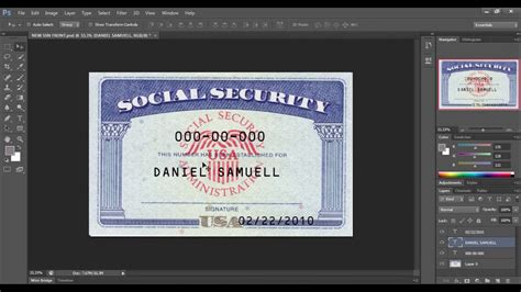 social security card template photoshop editable social security card template pdf best