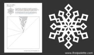 snowflake paper chain template paper snowflake patterns printable templates coloring