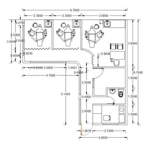 Floor Plans With Measurements by Cad Layouts Of Dental Clinics Cadblocksfree Cad Blocks Free