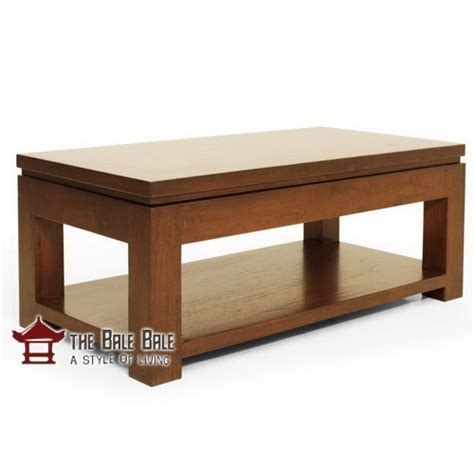Meja Kopi Kayu Jati meja kopi jati minimalis mkj002 mebel jati minimalis mebel jati jepara mebel furniture