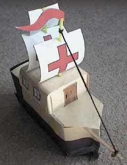 cardboard boat challenge instructions milk carton spanish galleon craft