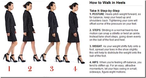 how to walk a walking in high heels without