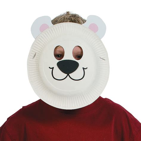 Polar Paper Plate Craft - paper plate polar mask craft kit trading