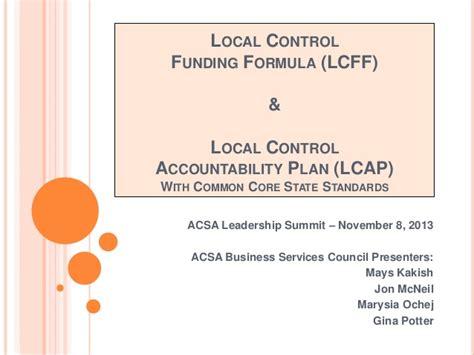 local control accountability plan lcap acsa leadership summit presentation lcff lcap w video web