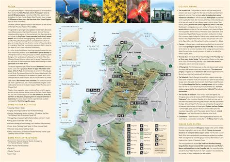 table mountain hiking trails helpful map of signal hill and other hiking trails cape