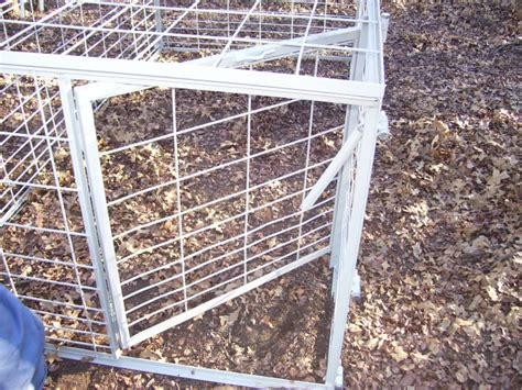 swing door hog trap plans swing gate section