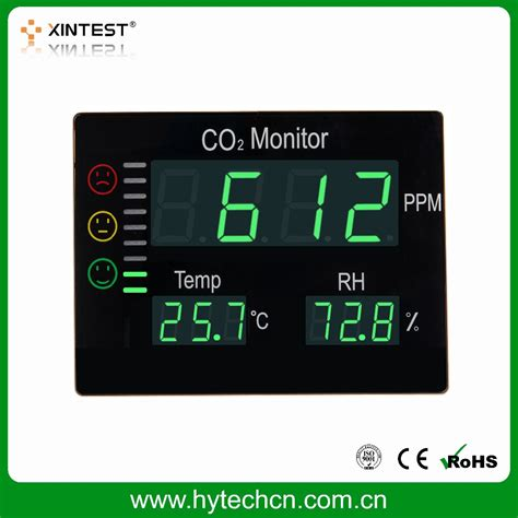 Wall Mount Desktop Temp Humidity Monitor Amt207 high quality portable wall mount temperature and humidity co2 monitor view wall mount