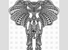 Henna mehndi tattoo style Indian Elephant Vector Image of ... Indian Elephant Henna Drawing