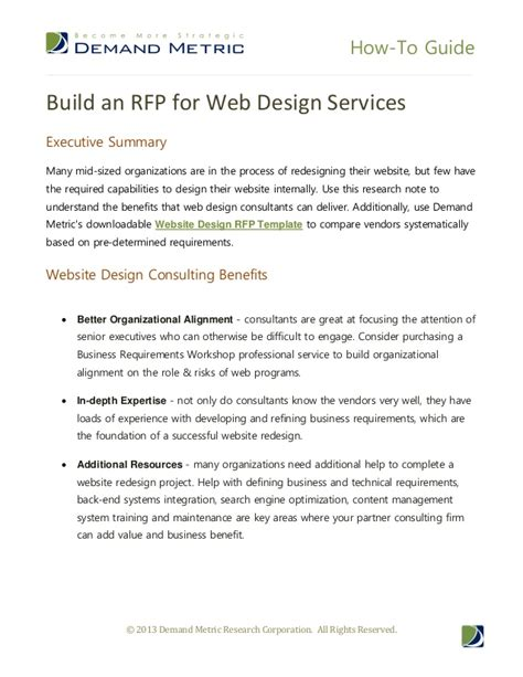 Build An Rfp For Web Design Services Website Redesign Rfp Template
