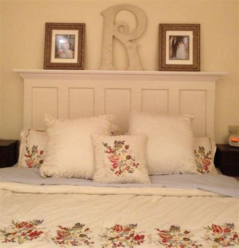 Functional Headboards by 80 Year 5 Panel Door Converted Into A Headboard With A Functional 7 Quot Shelf Supported By