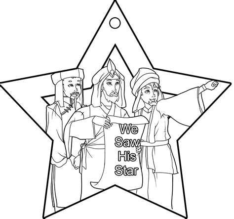 coloring page wise men coloring home