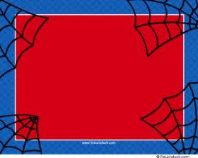 spider man birthday invitation free templates