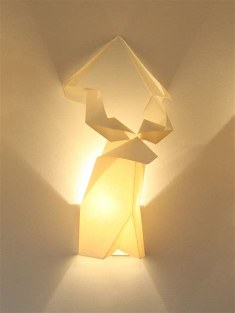 How To Make Origami Lights - origami wall lights
